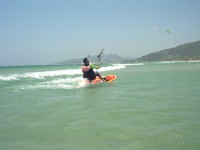 Keep riding! At Tarifa Max kitesurfing we will check on you with our rescue boat