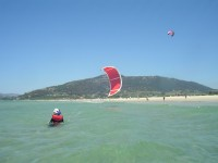 Body dragging in the sea, Tarifa Max Kitesurfing step by step progession method