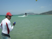 Kitesurfing tuition with radio connection for the best private kitesurfing lesson in Tarifa Spain, with Tarifa Max kitesurfing school since 1998. Our experience makes the difference. booking at info@tarifamax.net