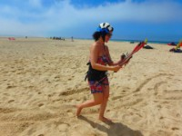 Learn to rig a 4 line kite at Los Lances Beach with Tarifa Max kite school