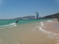 Up and kitesurfing